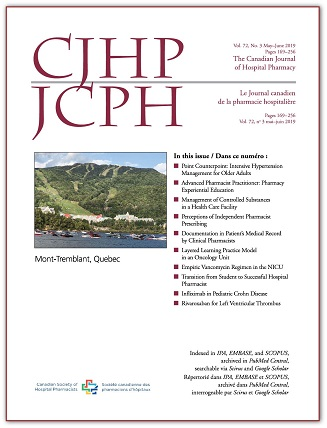 The Canadian Journal of Hospital Pharmacy